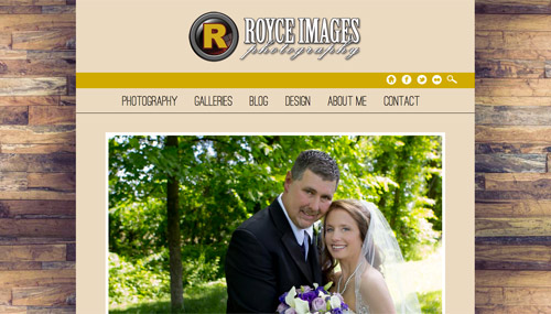 Royce Images Photography site screen shot